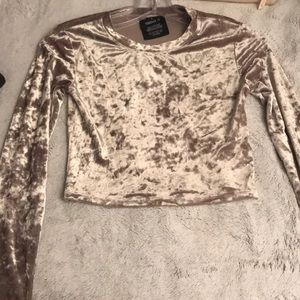Brown long sleeve crop top!